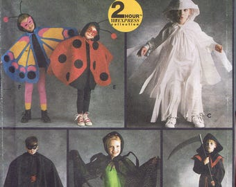 Size 2-12 Boys or Girls Costume - Butterfly Costume - Lady Bug Costume - Grim Reaper Costume - Halloween Costume - Simplicity 9088