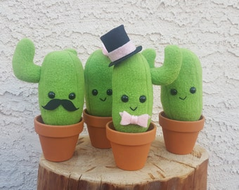 Cactus Plush - Cute Potted Cactus with Roots - Made to Order