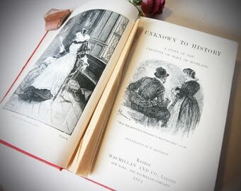 Mary Of Scotland, Unknown To History History book Antique books 1904 History Hardback illustrated