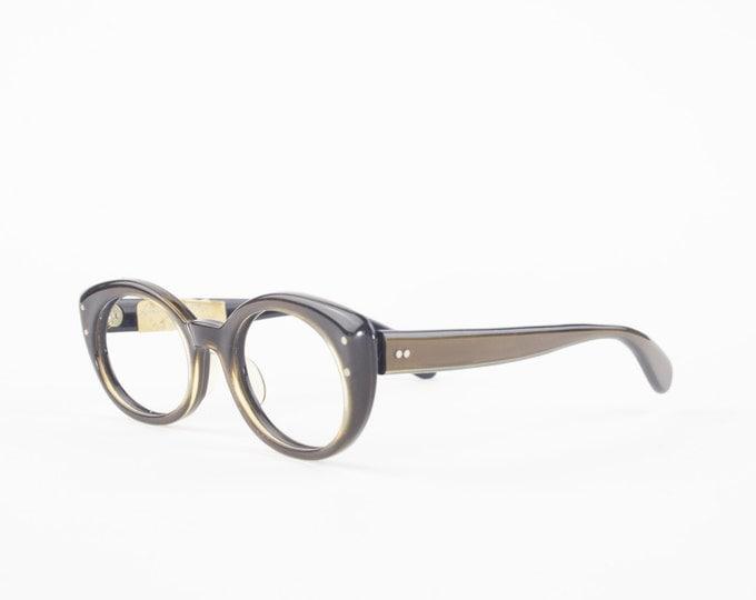 60s Vintage Cateye Glasses | 1960s Brown Oval Eyeglasses | Bausch & Lomb NOS Eyeglass Frame | Deadstock Eyewear - Bewitching