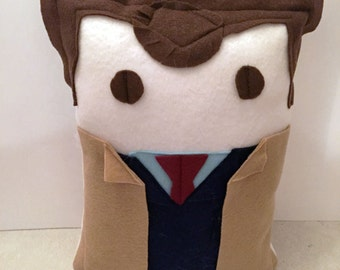 10th Doctor (David Tennant) Doctor Who Decorative Fleece Character Geek Pillow (plush, cushion)