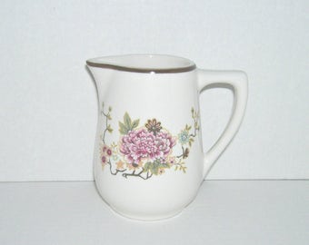 Vintage Mayer China Restaurant Ware Creamer Floral Pattern
