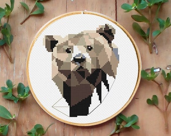 Bear small Cross stitch pattern - Cross stitch - PDF download