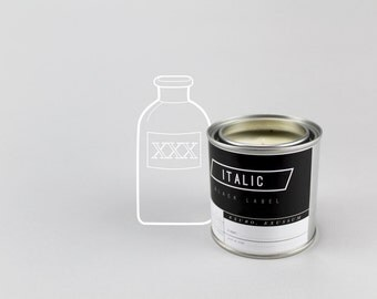 18 // Apothecary - Half Pint (8oz) Scented Soy Candle in Paint Can (Eucalyptus, Sage, Dash of Pine)
