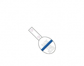 OVAL Back The Blue - POLICE - Cop - Law Enforcement - In The Hoop - Snap/Rivet Key Fob - DIGITAL Embroidery Design