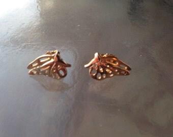 Butterfly Earrings, Butterfly Posts, Butterfly 3D earrings, Butterfly cutwork Earrings, 1960s AVON Butterfly Earrings, Small Posts Butterfly