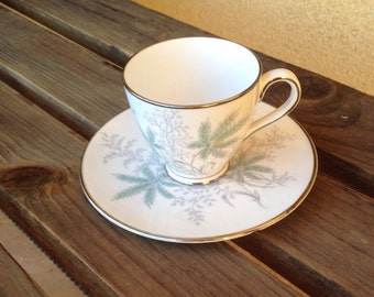 Fern Tea Cup, Fine China Fern Teacup, Royal China Ferndale Cup, Fern Leaf Cup, Royal Tuscan Cup and saucer Ferndale, Ferndale Cup F 259