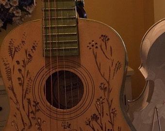Carved guitar