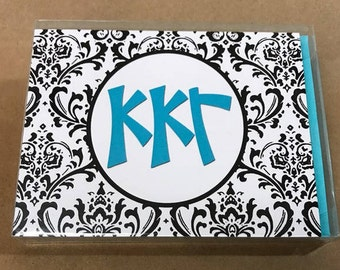 Kappa Kappa Gamma Damask Notecards