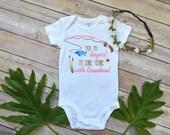 Fishing shirt,Pack My Diapers I'm going Fishing With Grandma, Baby Shower Gift, Fishing Baby shirt, Fishing Buddy,Fishing Grandma Bodysuit