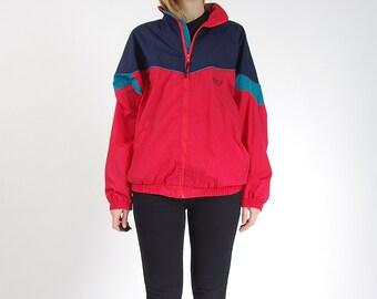 30% OFF SALE - 90s Etirel Le Style Sportif Oldschool Streetwear Track Suit Jacket / Size M