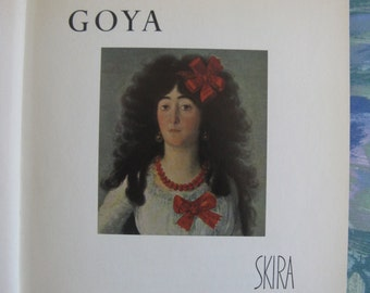 Vintage Hardcover Art Book 1950s GOYA Skira Biographical Color Plates Book