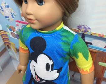 Up-Cycled Mickey Mouse Shirt for American Girl Dolls or any 18 inch doll