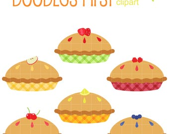 Fruit Pies Clip Art for Scrapbooking Card Making Cupcake Toppers Paper Crafts