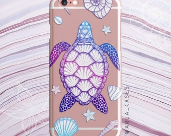 Turtle Phone Case, Ocean Lover Gift, Clear iPhone 7 Case, iPhone 6s case, Samsung Galaxy S7 Case, S6 Edge, S5, Sea Turtles Phone Case