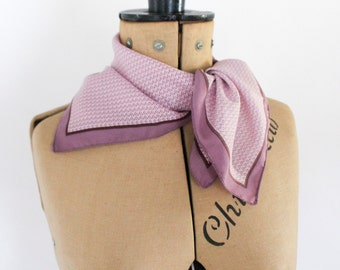 FREE DELIVERY • 60s Vintage Scarf • Neck Scarf • Purple Scarf • Gifts For Her • Womens Scarves • Polka Dot Scarf • Vintage Gifts • 60s Mod