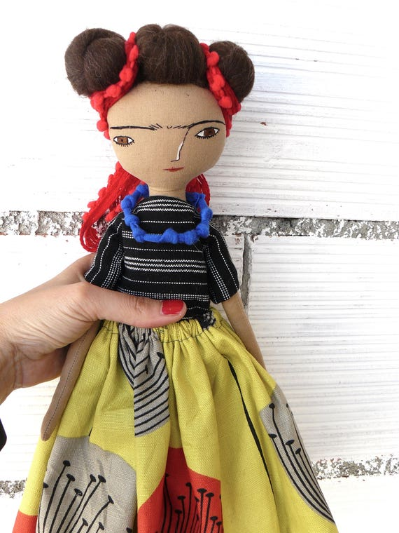 Frida Kahlo rag doll. 12,5 inches. Frida nº 7 2017 series.