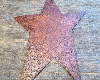 "4"" Rusty Tin Star.  Package of one (1). Tin Stars. Rusty Tin. Metal Stars. Rusty Metal Stars. Rusty Stars. Rusty Tin Embellishments."