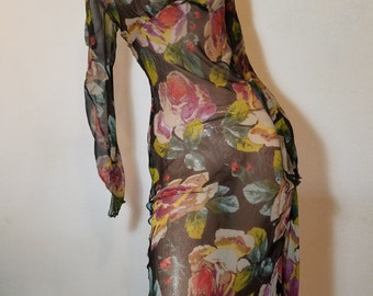 FREE  SHIPPING  Vintage Diane Von Furstenberg Silk Dress
