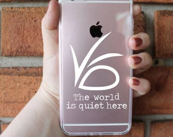 The World Is Quiet Here Phone Case | ASOUE Phone Case | iPhone Case | Galaxy Case | Southern Sweetheart Gifts