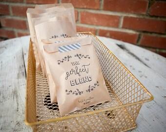 The Perfect Blend Craft Paper Bag // Coffee Favor Bag // Wedding Favor Bag