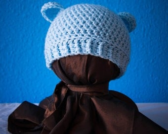 Adorable baby bear newborn beanie