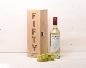Birthday Gift, Wine, Whiskey or Champagne Box. 50th Gift 40th Gift Wine Gift Whiskey Gift WB32