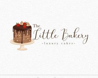 Cake Logo, Drip Cake Logo, Bakery Logo, Chocolate Cake Logo, Meringue Cake, Strawberry Cake Logo, Baking Logo, Luxury Cake, Business Logo