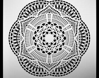 Mumbai Best Buy Superstore Flower.  Wall / Art / Craft / Painting / Makeup / Furniture / Tattoo / Overlay Airbrush Stencil.