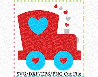 Valentine Train Heart SVG Cutting File, valentine svg, train svg, heart svg, valentines svg, valentine heart svg, train cut file