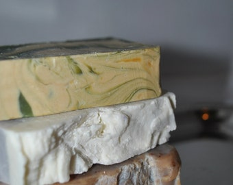 Gift Set of 3 Handmade Soaps: Honey Ale, Pinot Grigio, Champagne- Blowout Sale