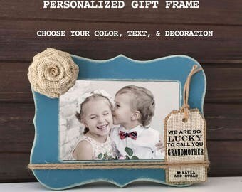 mothers day grandma gift frame gift for grandmother grandma frame any family member personalized gift frame lucky to call you grandma