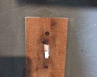 barn wood light switch plate