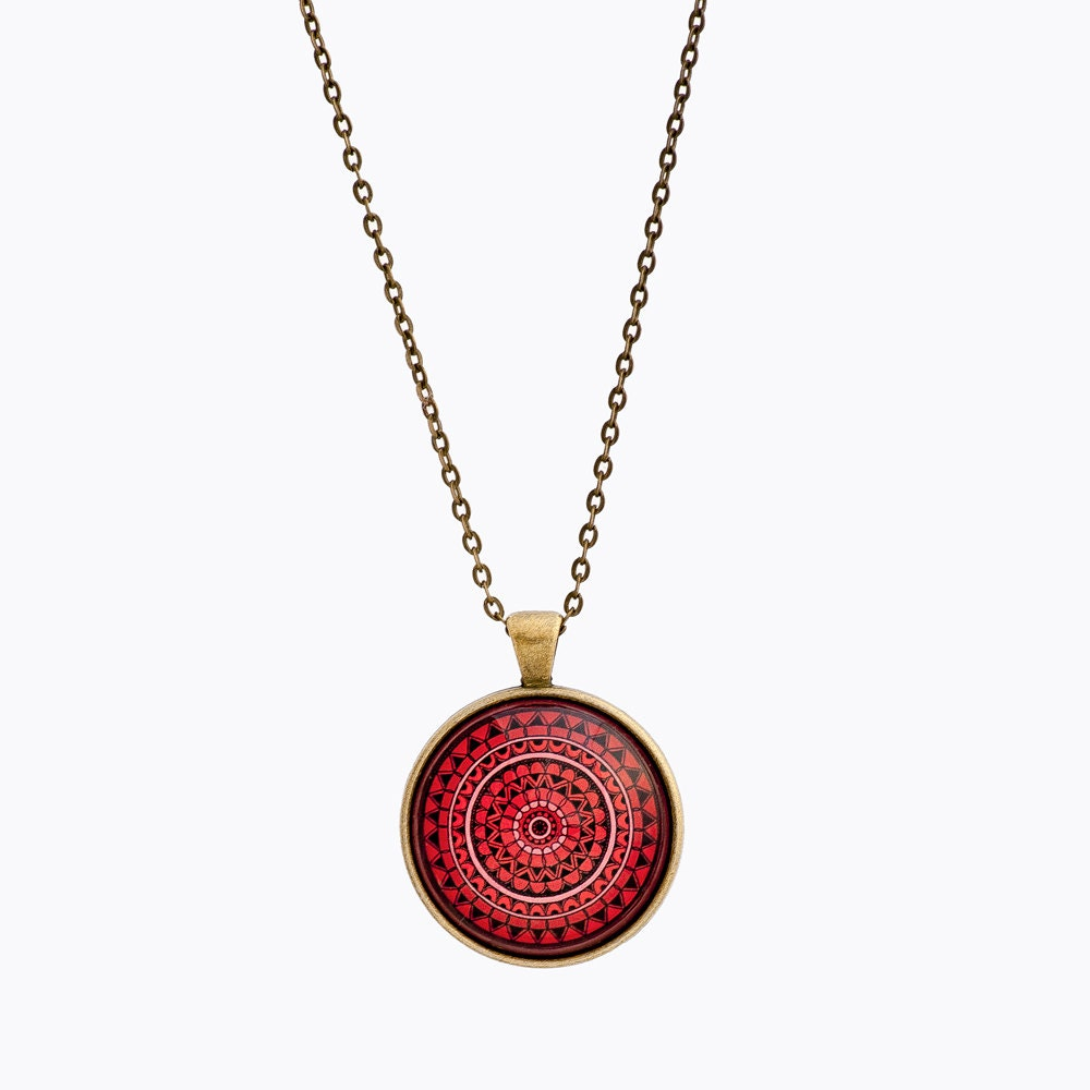 spiritual necklace mandala necklace mandala jewelry