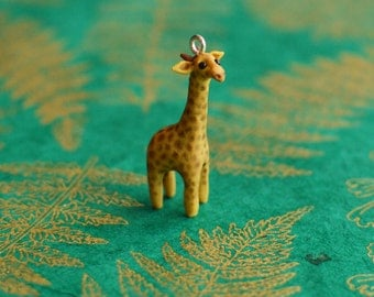 Hand Sculpted Giraffe Pendant with Chain