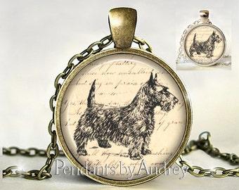 Scottie Pendant,Scottie Necklace,Scottie Jewelry, Art Pendant, Picture Necklace,Photo, Gift for Scottie Lover,Owner