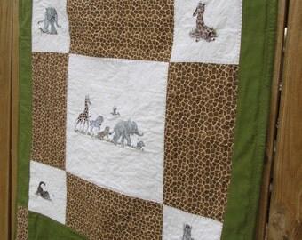 African Baby Animals Quilt