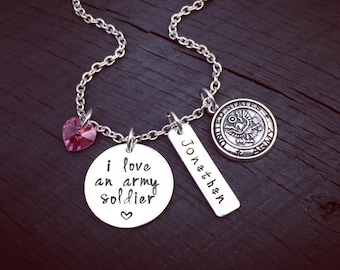 I Love An Army Soldier Necklace | Army Wife Necklace | Army Wife Jewelry | Army  Girlfriend Necklace | Army Mom Necklace Jewelry Gift