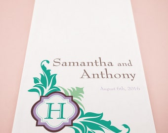 Lavish Monogram Personalized Wedding Ceremony Aisle Runner - 7 Colors - 1016-47