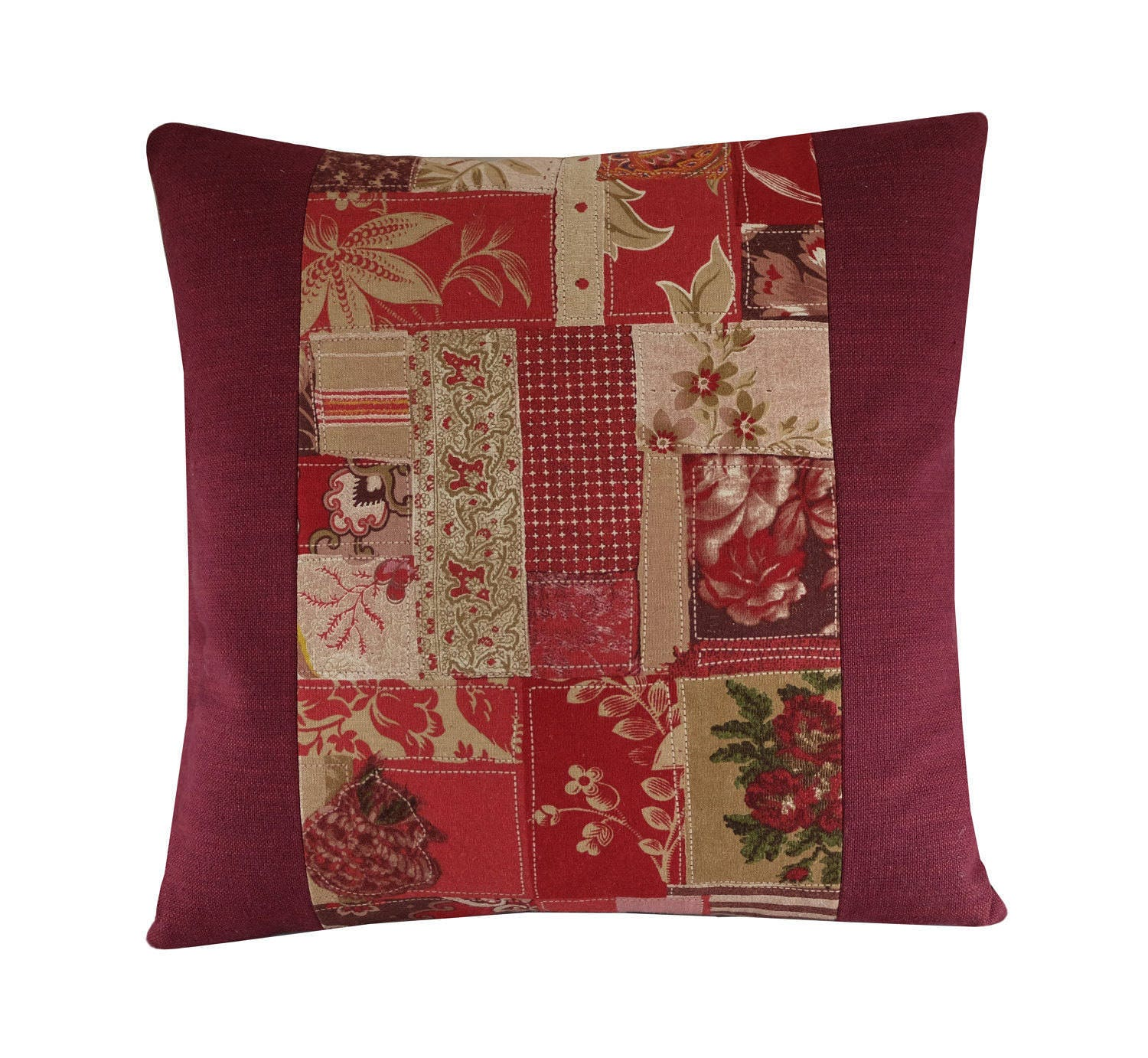 French Country Cushion Cover Rustic Throw Pillow 16x16