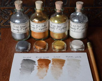 Unique Metallic Watercolour Paint 3.5ml Pot - Choose Your Colour: GOLD, SILVER, PEARL