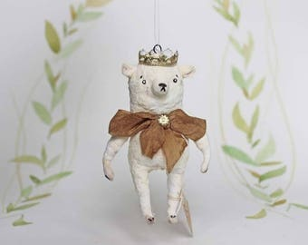 Mother s Day Special Spun cotton ornament teddy polarbear with crown