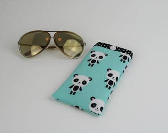 Sunglasses Case, Readers Case, Fabric Eyeglasses Case, Sunglasses holder. Cute sunglasses case. Teacher gift. Padded and soft fabric case.