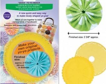 Clover Extra Large Yo-Yo Maker  Quick & Easy to Make Yo-Yos!  Finished Size Yo-Yos:  2 3/8 inches   Instruction Guide