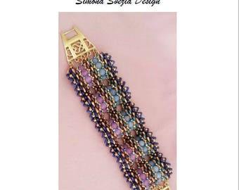 """TUTORIAL """"DRAGON SKIN"""" bracelet / bracciale"""