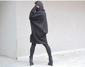 Long sleeves tunic, sweatshirt dress, plus size winter top tunic,  loose fitting top, sweatshirt winter tunic, clothing for oversized women