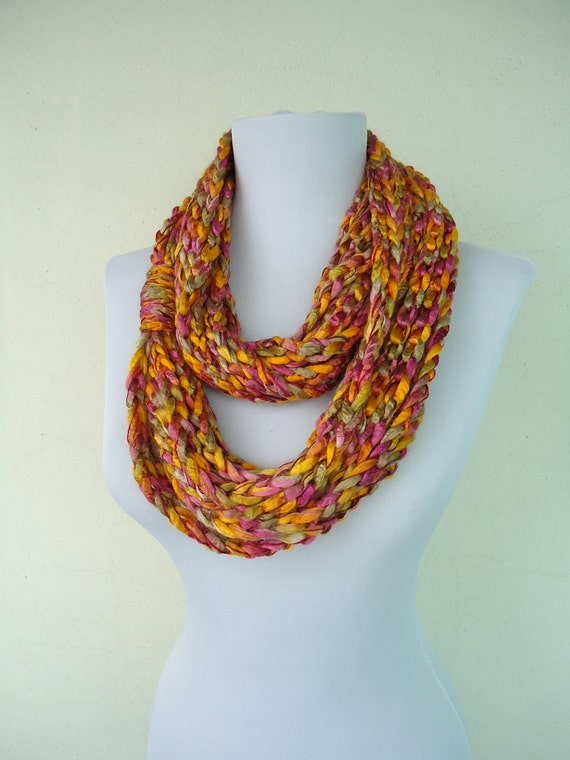 chain loop scarf crochet infinity scarf chain scarves
