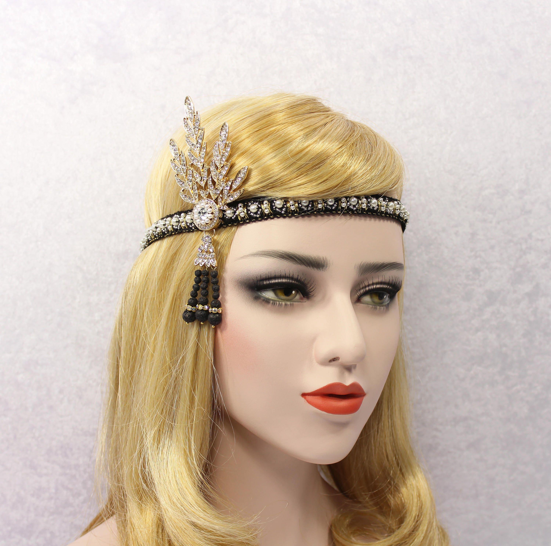 We wedding headpiece jewellery - Great Gatsby Headband Flapper Headband Great Gatsby Headpiece Bridal Headband Wedding Headpiece Silver Rose Gold Gatsby Jewelry