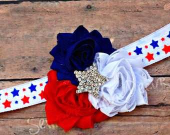Fourth Of July Bow, July Bow For Baby, 4th Of July Headband, Baby 4th July, 4th July Accessories, July 4th Headband, Fourth Of July Baby