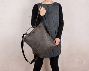 Leather Backpack, gray backpack, women backpack, handmade backpacks, women backpack purse, backpack leather, back pack gray, backpacks women